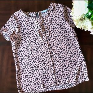 NY Collection Blush Pink W/ Locket Hearts Blouse